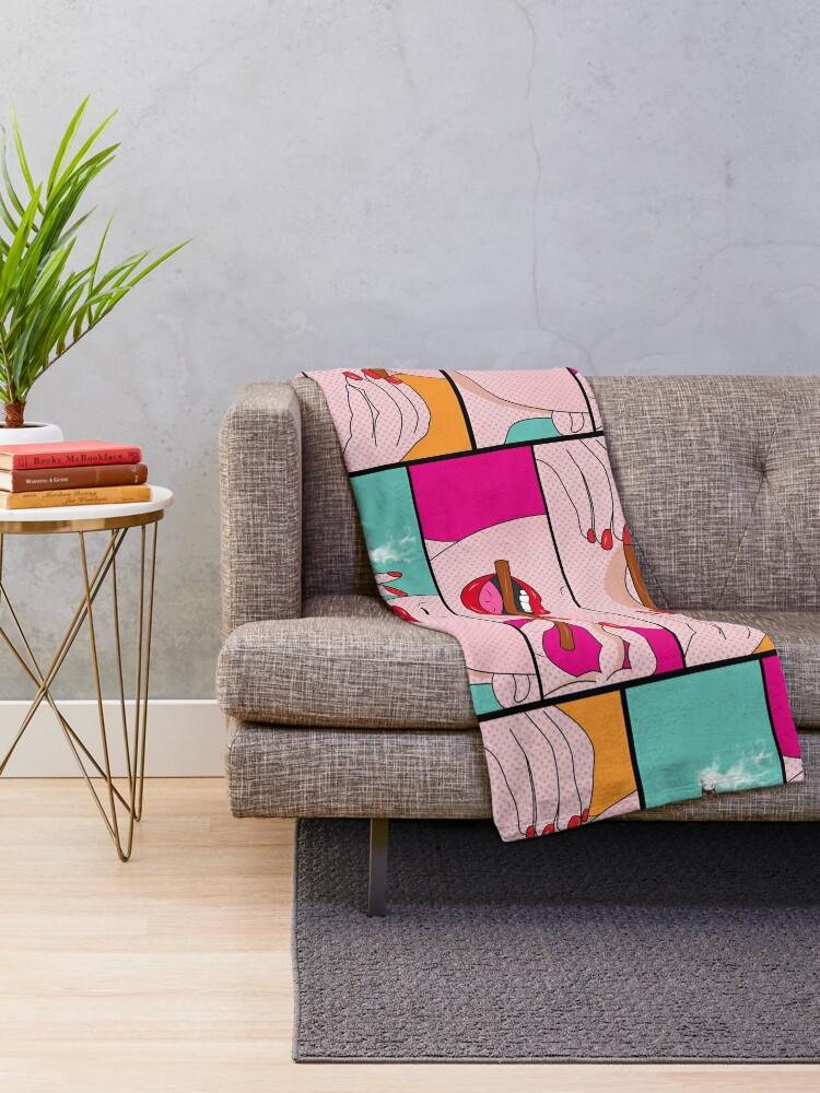 Alternate view of weed lady  Throw Blanket