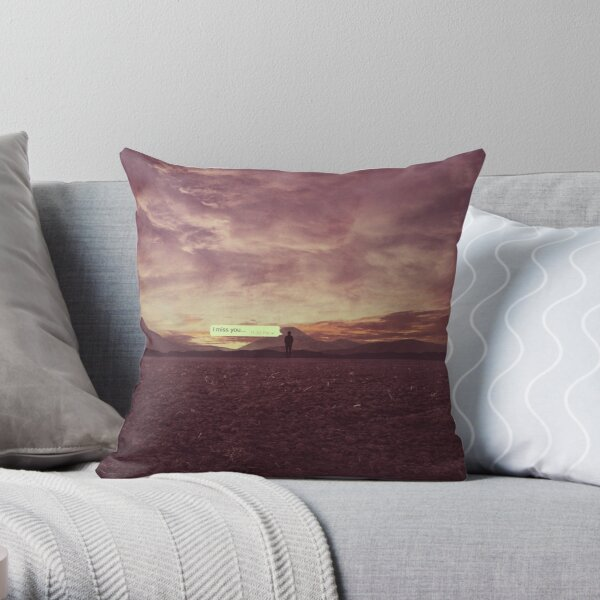 I miss you..  Throw Pillow