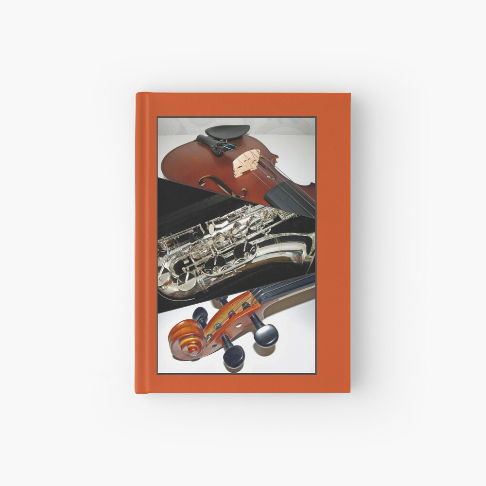 Violin and Saxophone Collage Notizbuch