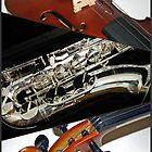 Violin and Saxophone Collage by BlueMoonRose