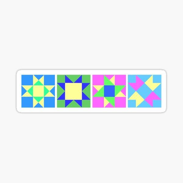 Quilt Star Blocks Sticker