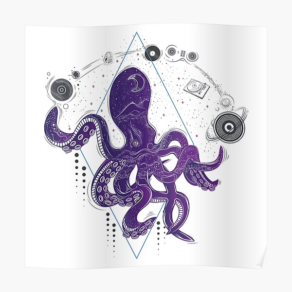 Musical Octopus Poster