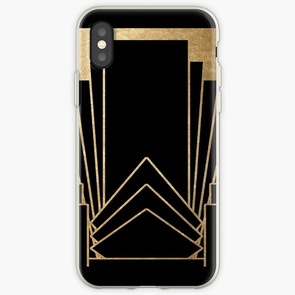 Diseño Art Deco Funda y vinilo para iPhone