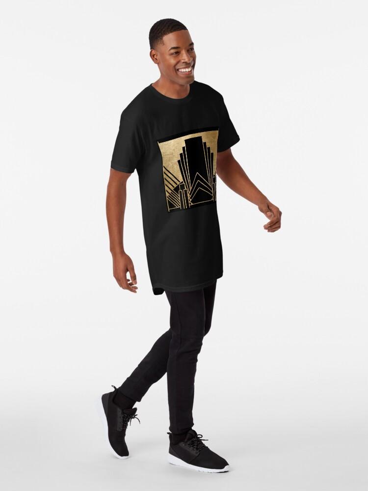 Alternative Ansicht von Art-Deco-Design Longshirt