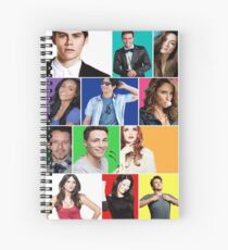 Teen Wolf Cast Boxes Spiral Notebook