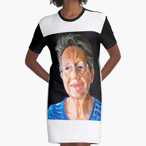 portrait of Beatrice Cloake Graphic T-Shirt Dress