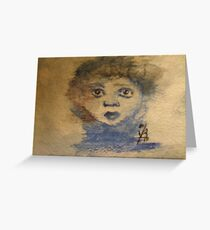Childs Face Greeting Card