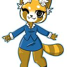 Office Red Panda by PandaDough