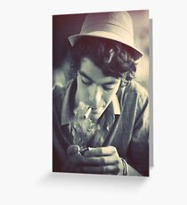 The Boy with a hat Greeting Card