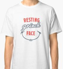 Resting Grinch Face Gift Ideas Classic T-Shirt