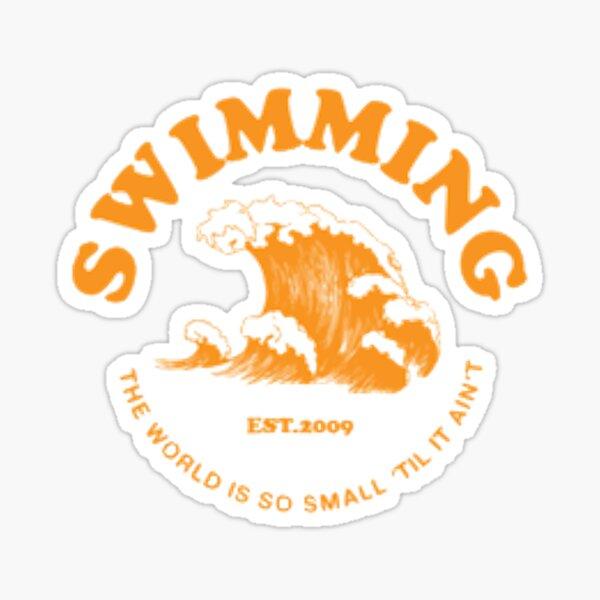 mac miller nadando Pegatina