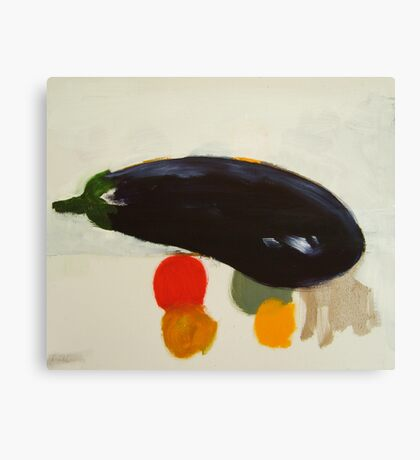 eggplant , lemon and tomato 2 - study Canvas Print