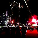 Dark Neon Fireworks by Mitchell Blatt, China Travel Writer