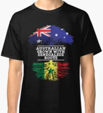 Australian Grown With Senegalese Roots - Gift For Senegalese From Australia With Country Roots From Senegal Classic T-Shirt