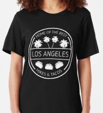 LA Hikes & Tacos Letterkenny Slim Fit T-Shirt