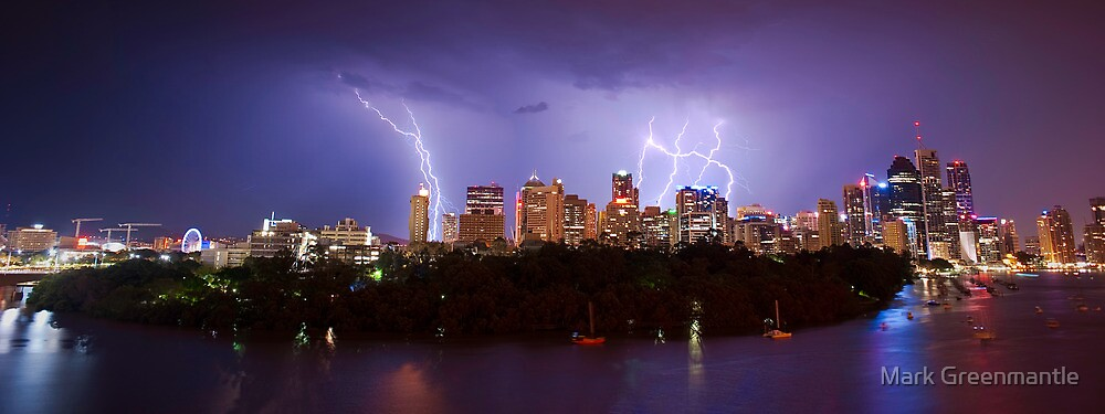 City Storm Chase from Kangaroo Point by Mark Greenmantle