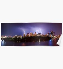 City Storm Chase from Kangaroo Point Poster