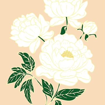 White Peonies by rontrickett