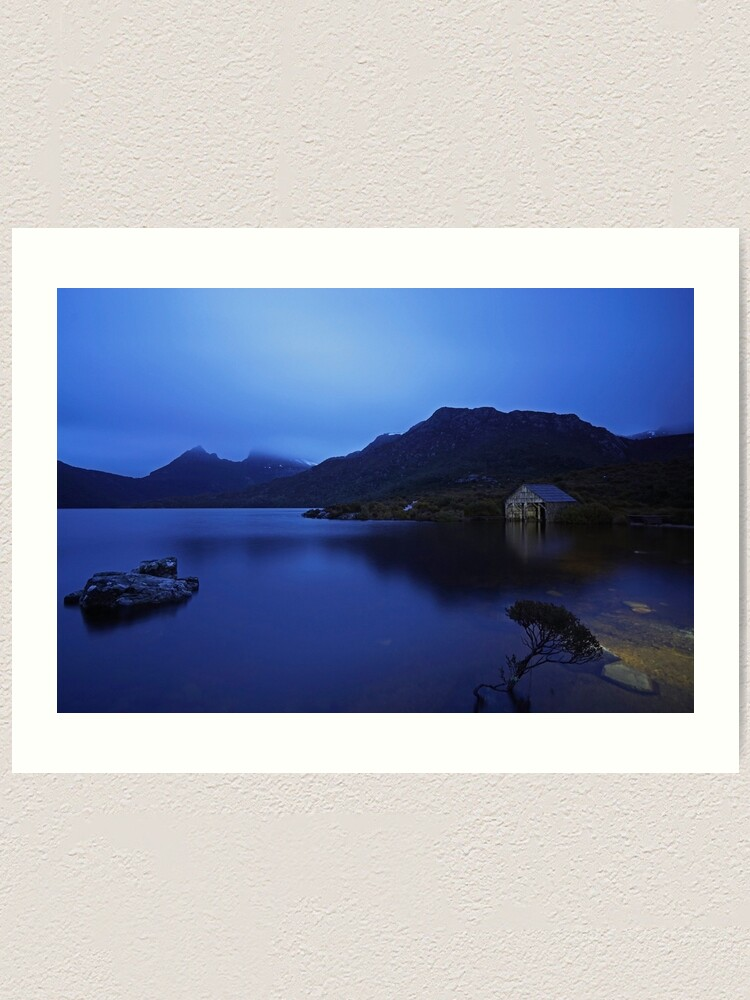 Alternate view of Rainy daybreak at the boat shed Art Print