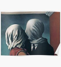 """Magritte's """"The Lovers II"""" Poster"""