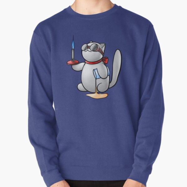 Chemistry Cat Pullover Sweatshirt