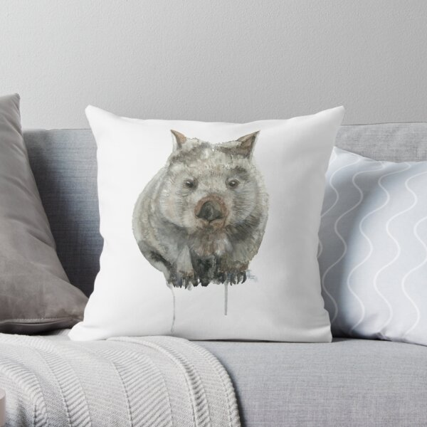 Common Wombat Throw Pillow