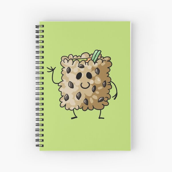 Brown Rice California Roll Sushi Pal Spiral Notebook