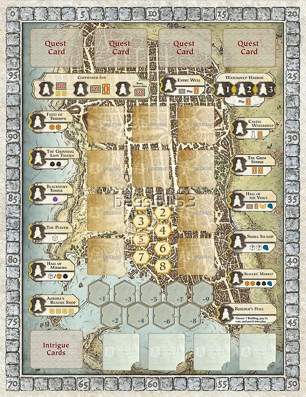 Quot Custom Lords Of Waterdeep Board Quot Art Prints By Bass6153