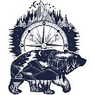 Bear and compass by intueri