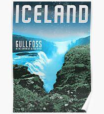 Iceland: Gullfoss Poster
