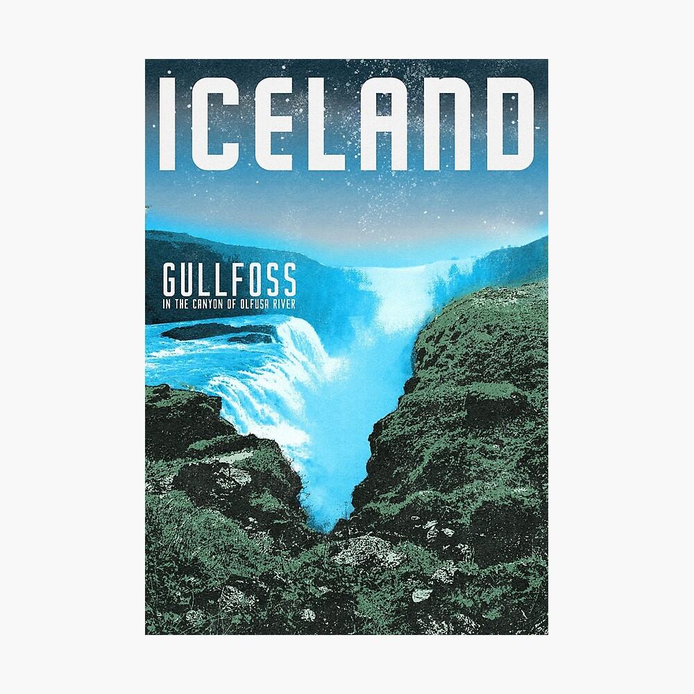 Island: Gullfoss Fotodruck