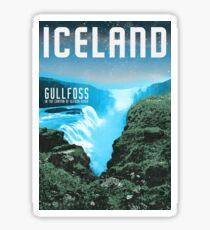 Pegatina Islandia: Gullfoss