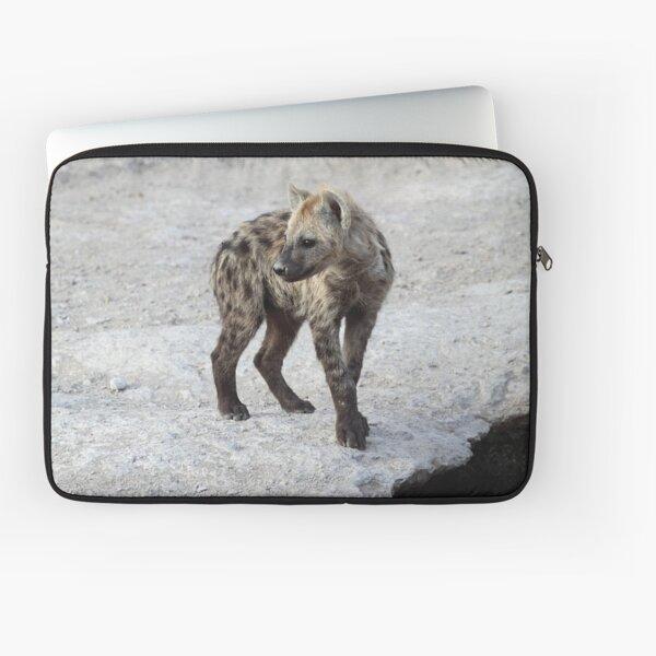 Spotted Hyena Cub, Kenya.  Laptop Sleeve