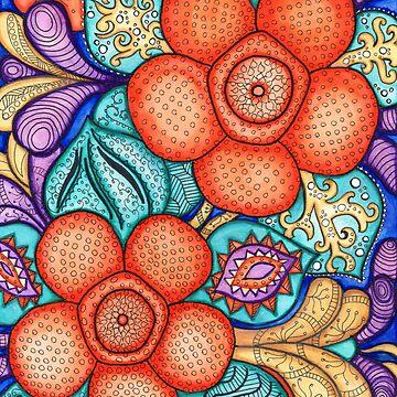 Watercolor Doodle Art   Rafflesia by coloringiship