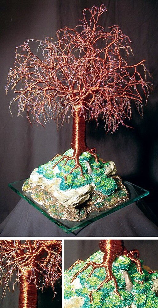 Mystical Island, wire tree sculpture by Sal Villano