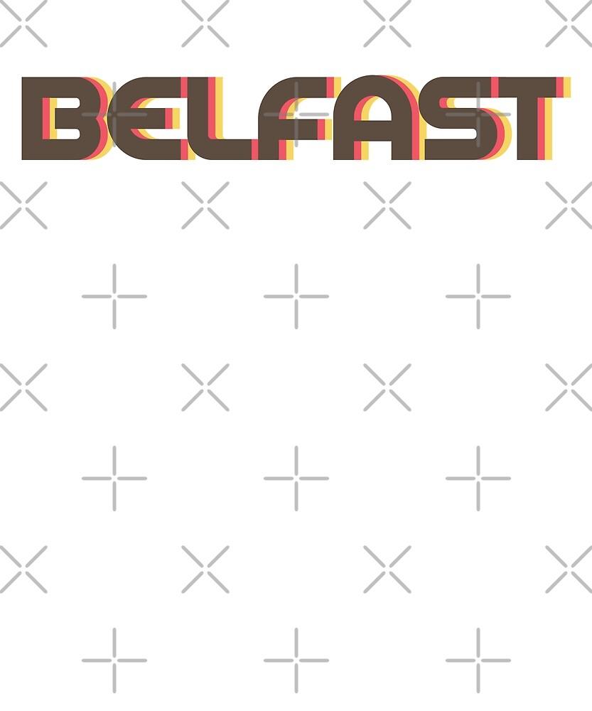 Retro Belfast T-Shirt by designkitsch