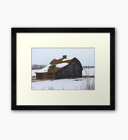 Lonely Prairie Barn   Framed Print