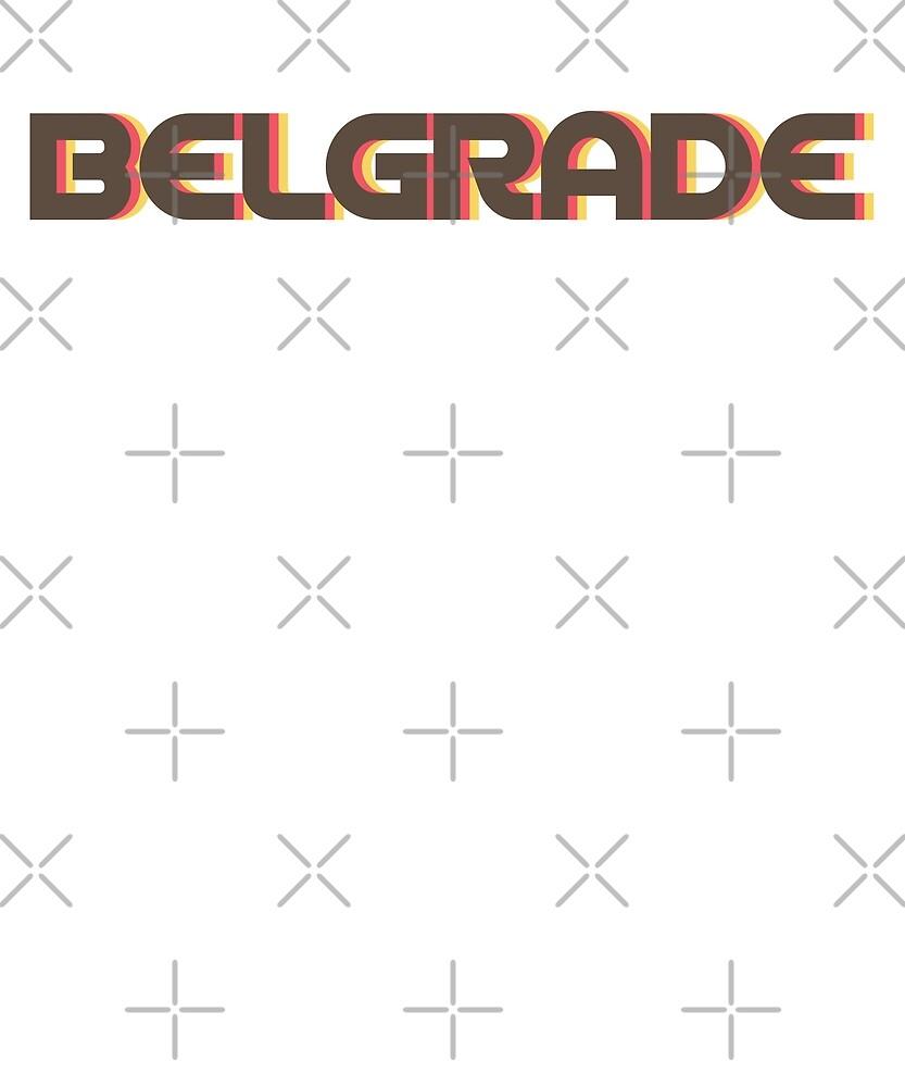 Retro Belgrade T-Shirt by designkitsch