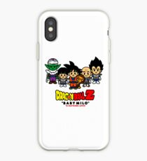 baby milo hanging with the dbz guys iPhone Case