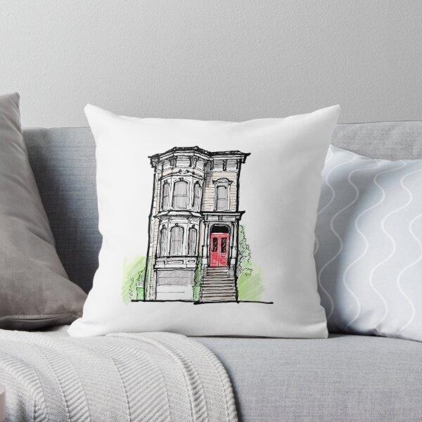 full house house Throw Pillow