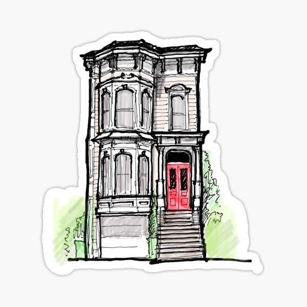 full house house Sticker