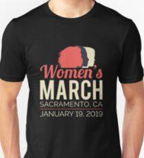 Frauen März 2019 Sacramento Kalifornien Slim Fit T-Shirt