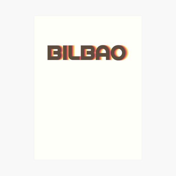 Bilbao retro Lámina artística