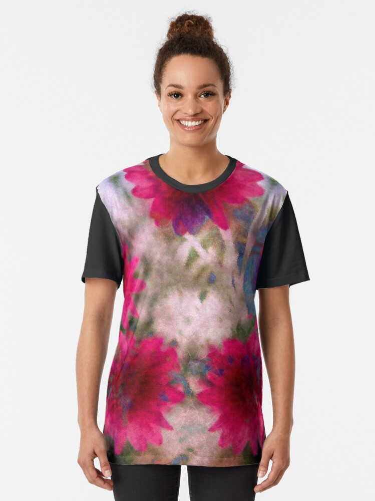 Alternate view of Abstract flowers Graphic T-Shirt