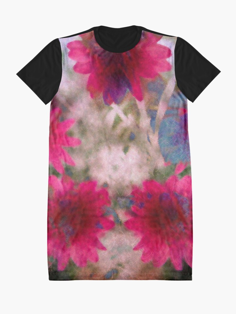 Alternate view of Abstract flowers Graphic T-Shirt Dress