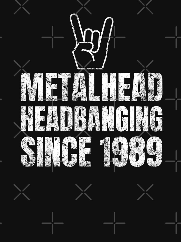 30th Birthday 1989 Metal Head by playloud