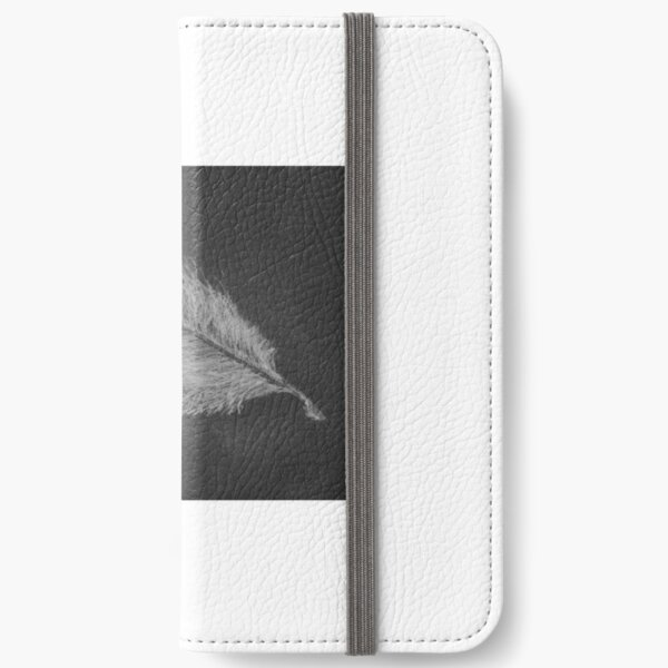 White Feather  iPhone Wallet