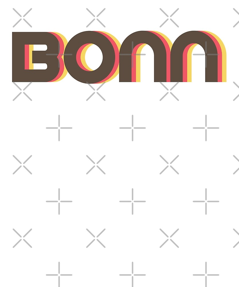 Retro Bonn T-Shirt by designkitsch