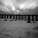 Monochrome Ribblehead Viaduct by Mark Dobson