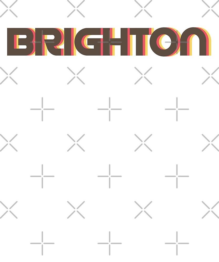 Retro Brighton T-Shirt by designkitsch